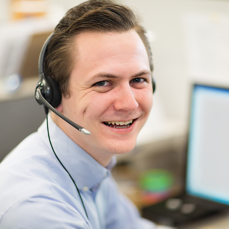Man at a call center